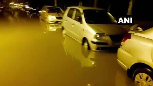 Earlier on Monday, Bengaluru started witnessing heavy rainfall which later cause a flood-like situation. (ANI)