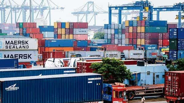 India's overall exports (Merchandise and Services combined) in September 2021 are estimated at $54.06 billion (Photo: Bloomberg)
