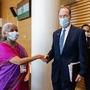 Union Finance Minister Nirmala Sitharaman meets World Bank Group president David Malpass