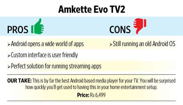 Review: Amkette Evo TV 2 is a smart Android box