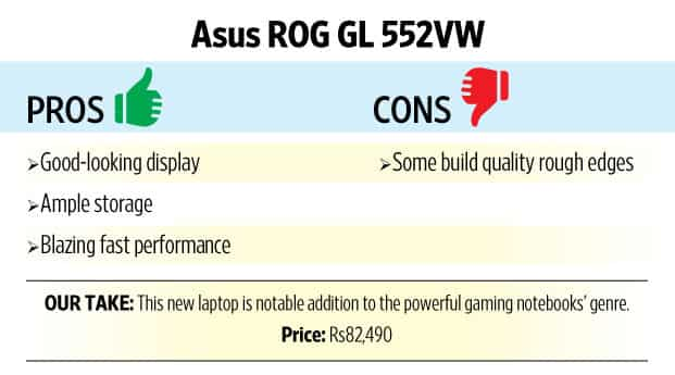 Review: Asus RoG GL552VW is the new affordable gaming laptop