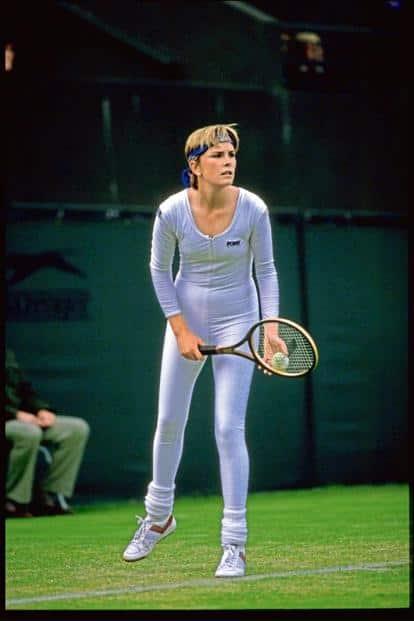 Anne White in a bodysuit.