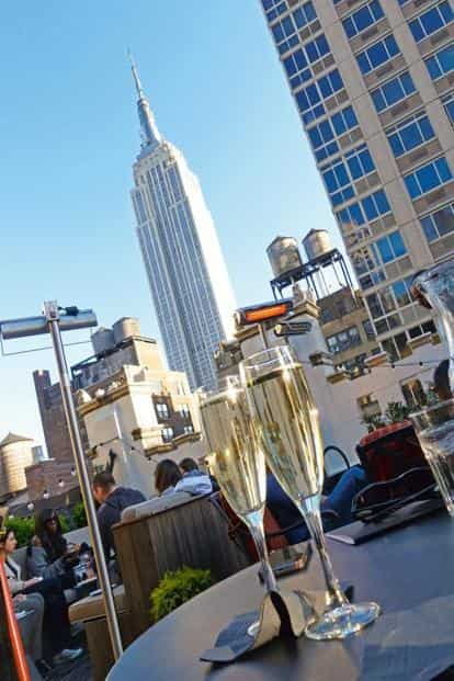 Some of the most stylish rooftop bars offer champagne and stunning views of the Empire State Building. Photo: Alamy