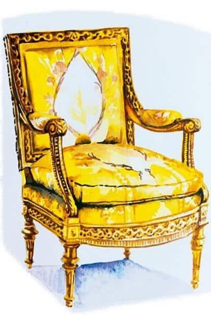 Louis XVI chair.