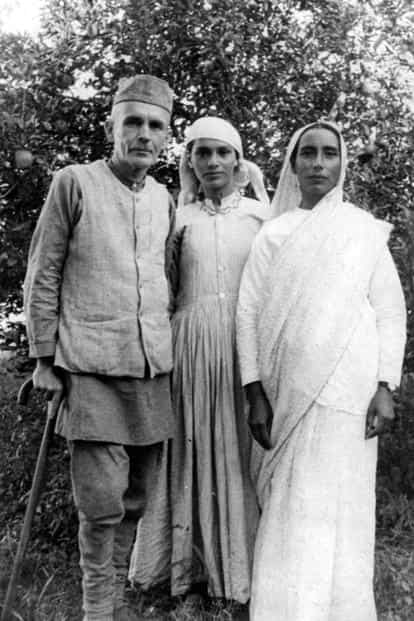 Samuel (Satyanand) Stokes with daughter Satyavati and wife Agnes. Photo: Courtesy Vijay Stokes