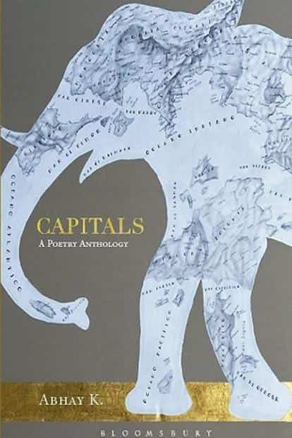 The cover jacket of Kumar's book 'Capitals: A Poetry Anthology'.