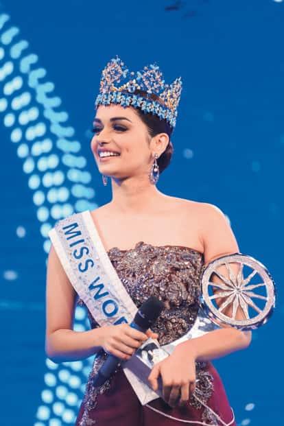 Miss World 2017 Manushi Chillar, who won a special achievement award. Photo: Pradeep Gaur/Mint