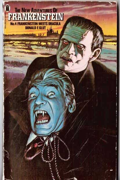 Cover of 'Frankenstein Meets Dracula'.