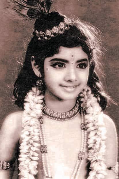 Sridevi as a child artiste. Photo: Niharika Kedia Images