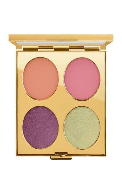 Lipstick in the Mittai Pink shade and 70's Sunset Eyeshadow palette from the M.A.C x Padma Lakshmi collection.