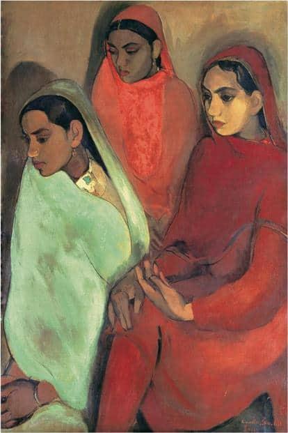 'Three Girls' (1935) by Amrita Sher-Gil. Photo: Wikimedia Commons
