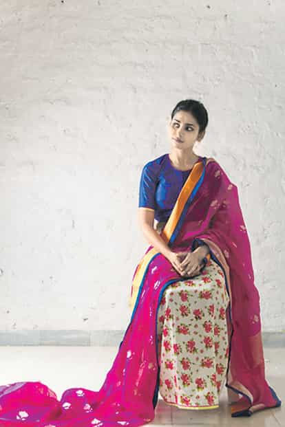 From the Raw Mango collection: Chheent (2011) bright saris and printed petticoats.