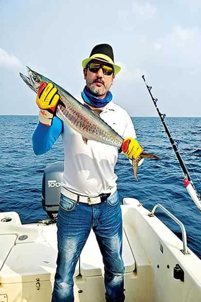 The 7kg king mackerel that was caught. Photo: Sudha Pillai