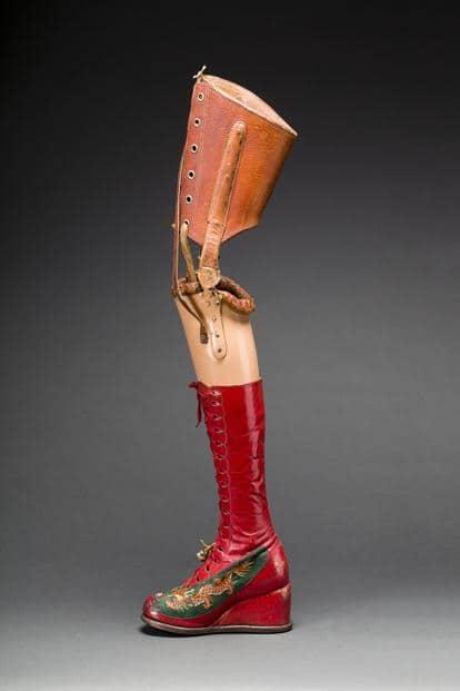 Kahlo's prosthetic leg. Photo: Javier Hinojosa