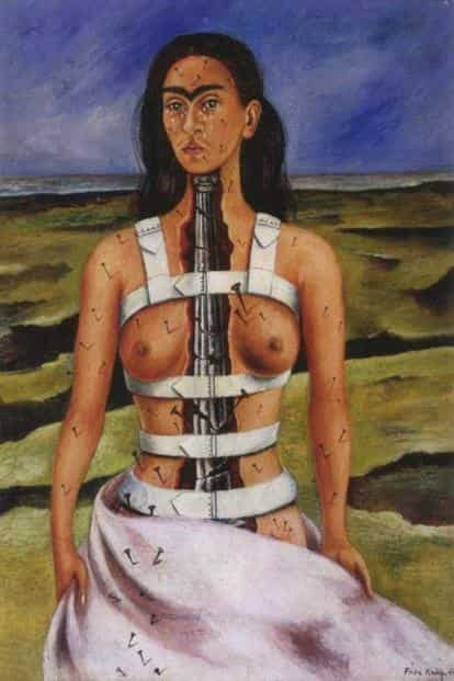 'The Broken Column' (1944). Courtesy Museo Frida Kahlo, Diego Rivera and Frida Kahlo Archives