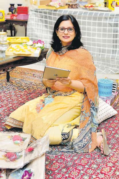 Deepika Vij, 47, has been working with FoodCloud for more than a year and half. Photo: Priyanka Parashar/Mint