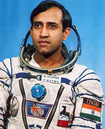 Cosmonaut Rakesh Sharma in gear. Photo: HT