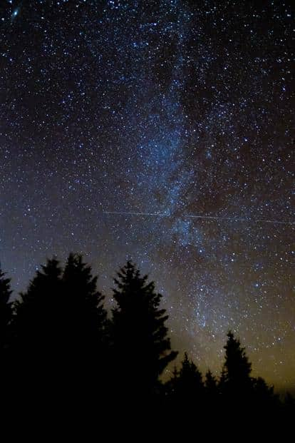 the ISS passing in front of the Milky Way, in Wales, UK. Photo: Alamy