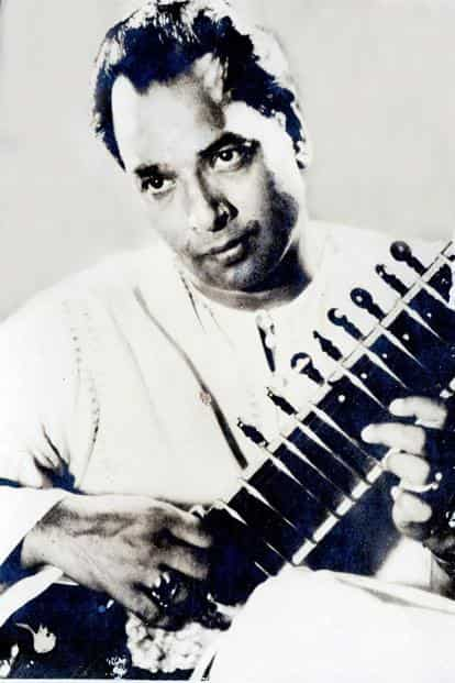 While the younger Vilayat Khan (above) focused on technical virtuosity, he became more absorbed in melody as he matured.