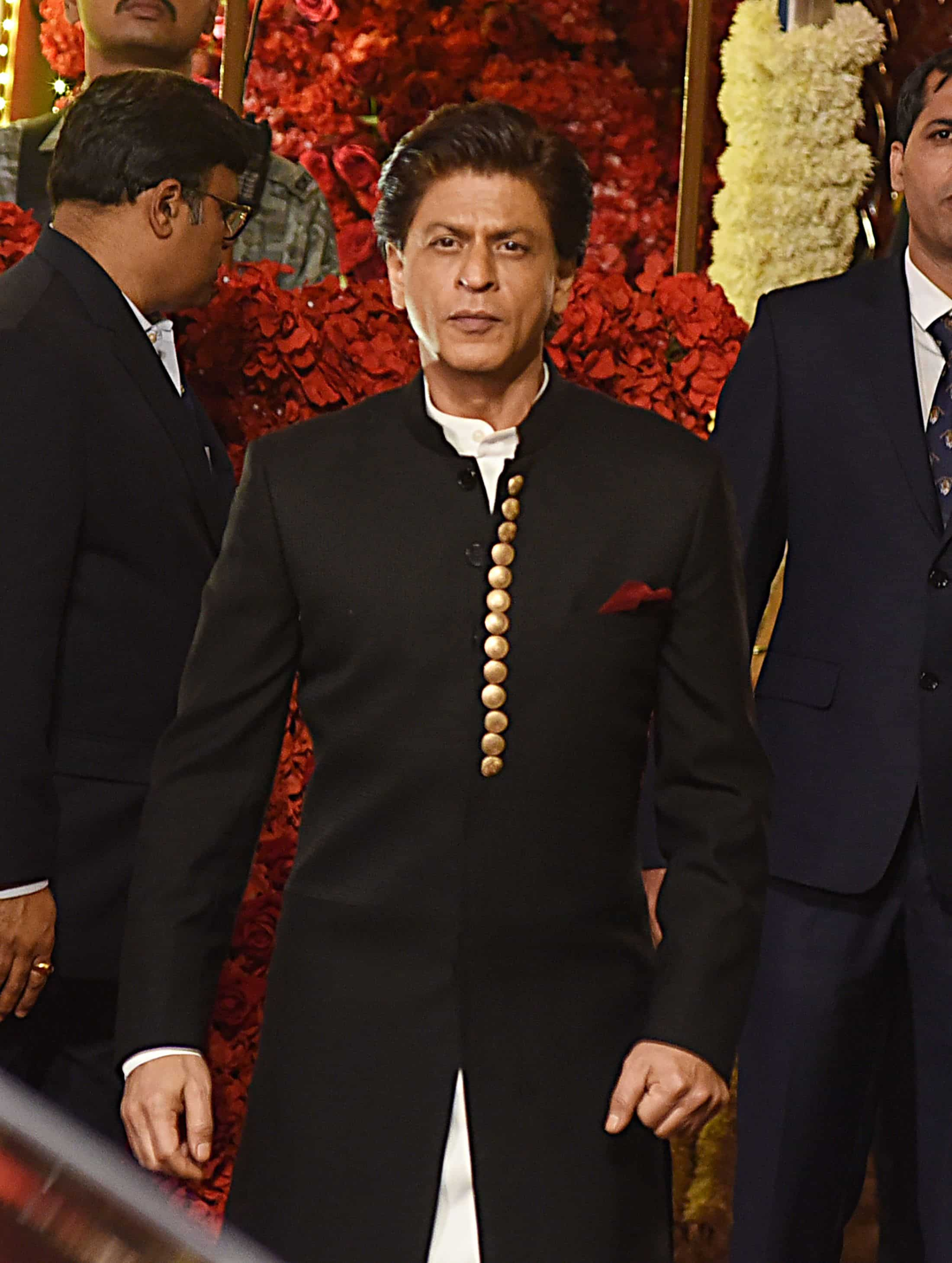 Superstar Shah Rukh Khan attends the wedding of Isha Ambani. Photo: AFP
