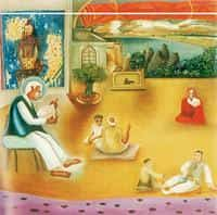An image of a fake Bhupen Khakhar painting at Christie's