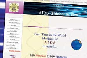 Caught in the Net: Jondhale's website offers a cure for HIV/AIDS.