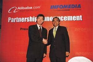 Strategic alliance: Arthur Chang, vice-president (global sales), Alibaba.com, and Prakash Iyer, managing director, Infomedia India Ltd.