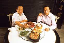 Nelson Wang and his son Edward at their restaurant (Photo by: Madhu Kapparath / Mint)