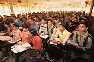 Serious study: A class in session at Bansal Classes Pvt. Ltd coaching centre in Kota, Rajasthan.  Photograph: Harikrishna Katragadda / Mint