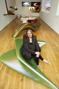 First among equals: In 2004, Hadid became the first female recipient of the Pritzker Architecture Prize. Graham Barclay / Bloomberg