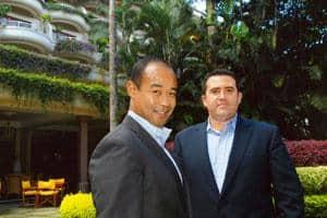 Agressive investors: Hilton Romanski (left) and Charles Carmel of Cisco Systems Inc. Hemant Mishra / Mint