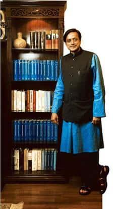 Statesman: Tharoor occupies an office that once belonged to K.R. Narayanan and Vinod Khanna. Harikrishna Katragadda / Mint