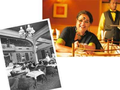 Old world: (above) Uthup met her husband for the first time at Trincas; and the restaurant in the mid-1970s when film stars used to frequent it. Indranil Bhoumik / Mint
