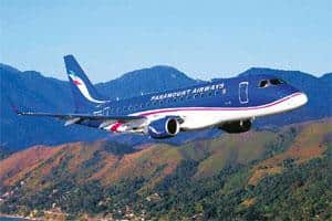 Turbulent times: A Paramount Airways aircraft. Indian carriers have been under financial strain with at least $1 billion in losses in the fiscal year ended March, resulting in defaults on aircraft pay