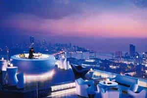 High life: Enjoy this stunning view of Mumbai at Aer from 11 December.