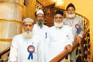 Fostering education: (from left) Shafiqur Rahman, Abdul Khan, Afaque Rahmani and Salim Akhtar Bellali at a New Delhi hotel in September after receiving the national award for best Urdu teachers. Rames