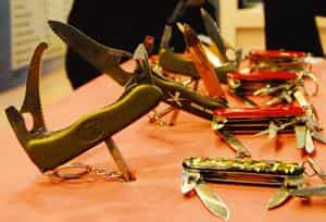 Cutting edge: Swiss Army knives at the 2010 Defexpo at Pragati Maidan. Victorinox has submitted a prototype to the Indian authorities for supply to the army and is now waiting for a decision. Ramesh P