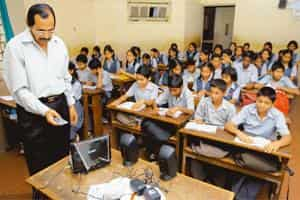 Medium of instruction: An audio-visual class for English in progress at Shri Madhavrao Bhagwat High School, a Marathi-medium school in Mumbai. Various studies, including a report by Nasscom, have show