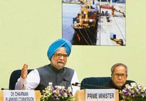 Catalyzing investment: Prime Minister Manmohan Singh (left) and finance minister Pranab Mukherjee. PTI
