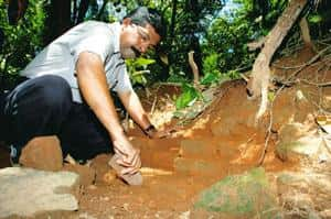 Strands of history: Excavation at Pattanam in June 2006. AFP