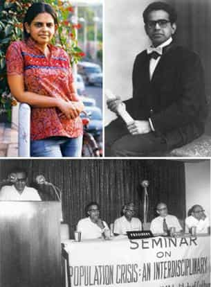 Out of the shadows: (clockwise from top left) Thirty-two-year-old Didwania. Amit Agrawal / Mint; a portrait of Dr Mukherjee on his graduation; and Dr Mukherjee addressing a seminar on the population c