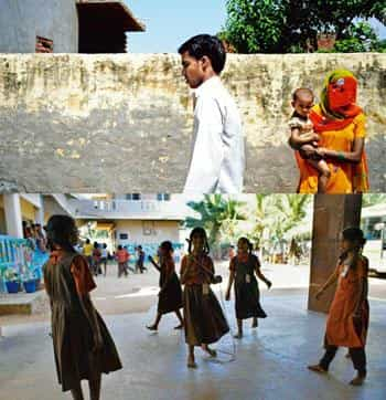 Skewed future: (top) In Jhajjar, Haryana, that has the lowest sex ratio in the country, the number of girls per 1,000 boys is 774, while the state average is 830, in the 0-6 age group; and many girls