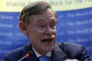 World Bank president Robert Zoellick. Photo: AP