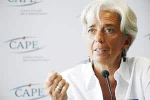 A file photo of IMF managing director Christine Lagarde.