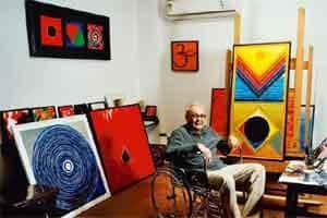 The seed: Raza in his studio in New Delhi. Photo: Pradeep Gaur/Mint