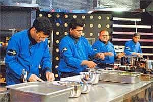 Chef's hat: The Indian team at work during one of the episodes.