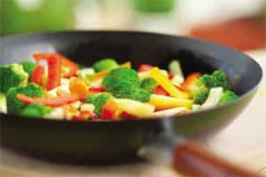 If you want veggies to stay bright and colourful, add the acid component of your recipes towards the end. iStockphoto