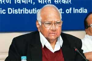 Backing out: Minister for agriculture Sharad Pawar.