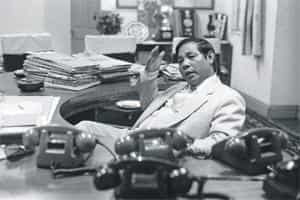 Sangma as chief minister of Meghalaya in 1988 .(India Today images)