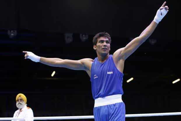 India's Manoj Kumar (64kg) notched up a comfortable opening win against Serdar Hudayberdiyev of Turkmenistan to enter the Olympic pre-quarterfinals. (Reuters)